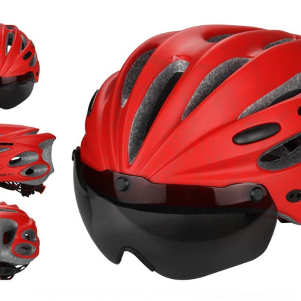 GUB K80 copos magnéticos tipo de vento capacete espelho mountain bike integrada montando moldagem capacete EPS bicicleta sucção óculos bicicleta tyDLu