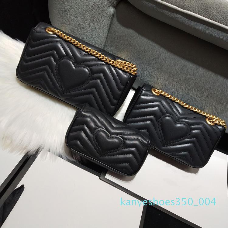 Mulheres Marmont saco de Luxo Bolsas premium designer bolsas macias das senhoras de couro genuíno Bolsas de Ombro Coração V Ondas Crossbody Padrão k04