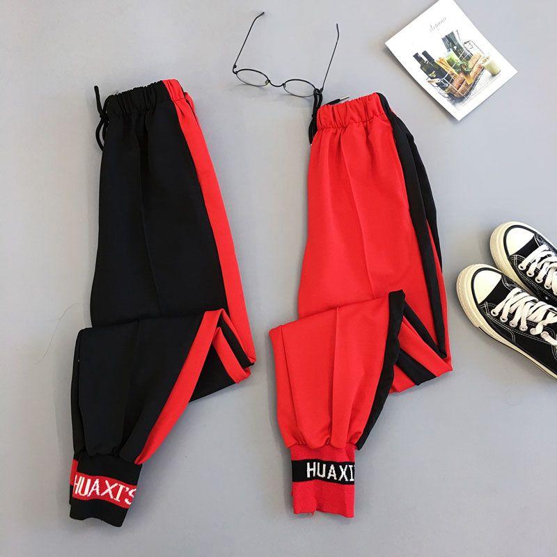 Pantaloni Primavera Sport Cargo Plus Size Lettera ricamo pantaloni Donne Vita Streetwear alta Cool Girl Harajuku Hip Hop Pantaloni CX200810