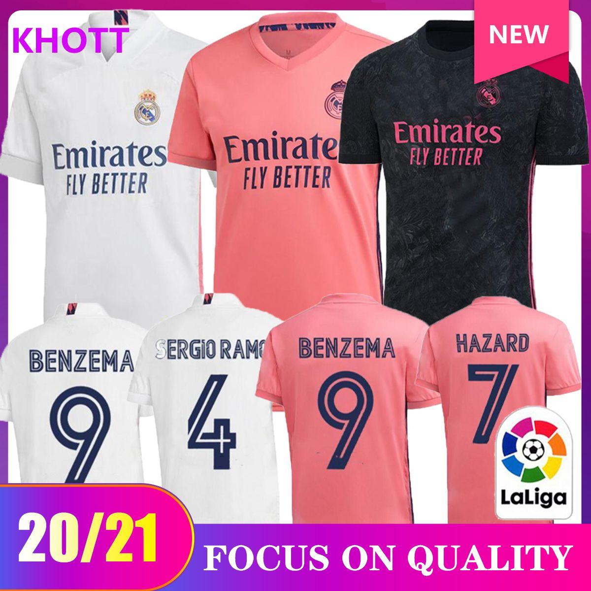 20 21 madrid pullover domestico di calcio di Real 2020 2021 PERICOLO camiseta de fútbol Vinicio Asensio maglia di calcio bambini camisa de Futebol