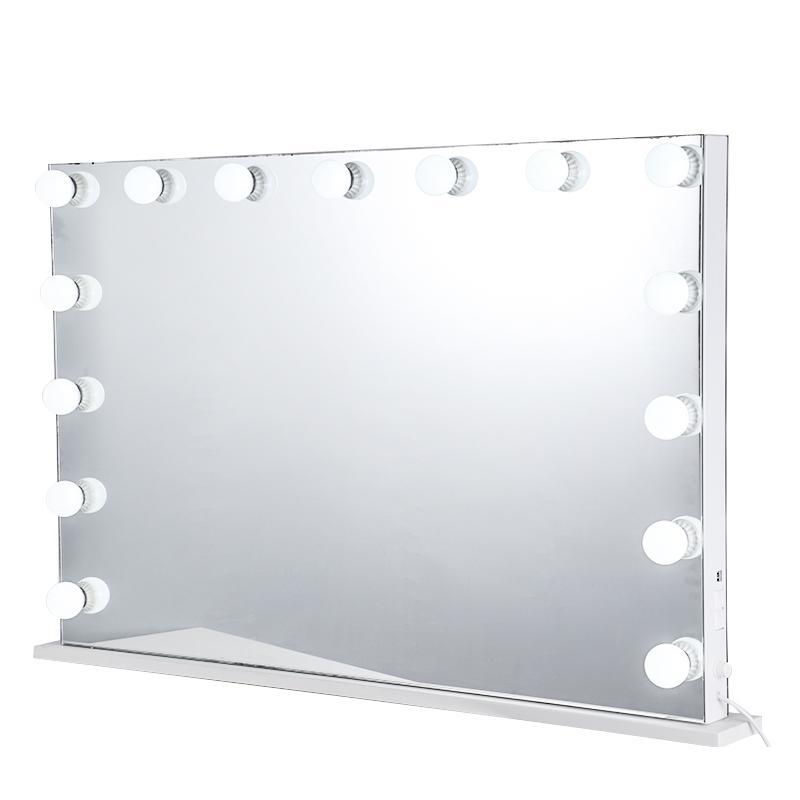 Home Decor Hollywood Bulb luzes LED Maquiagem Led Vanity Table Lighted Compacto de Mesa Lâmpada de Metal Espelho