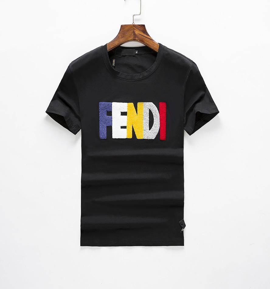 Повседневная футболка Мужская одежда Летняя рубашка конструктора Черный Белый Оранжевый Размер M-3XL Бленда хлопка шеи экипажа с коротким рукавом мультфильм печати