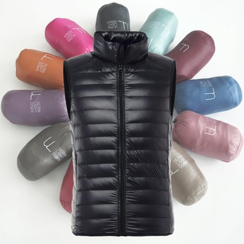 Niza Nueva marca de fábrica concede invierno de los hombres pato de Down Ultra Duck Down Light sin mangas chaleco flojo XS-3XL chaqueta masculina