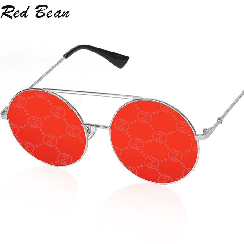 Femmes Designer Lunettes de soleil Dames Miroir rond Sun Lunettes de soleil Femme Marque Mode Uv400 Eyewear Retro Metal NSQJF