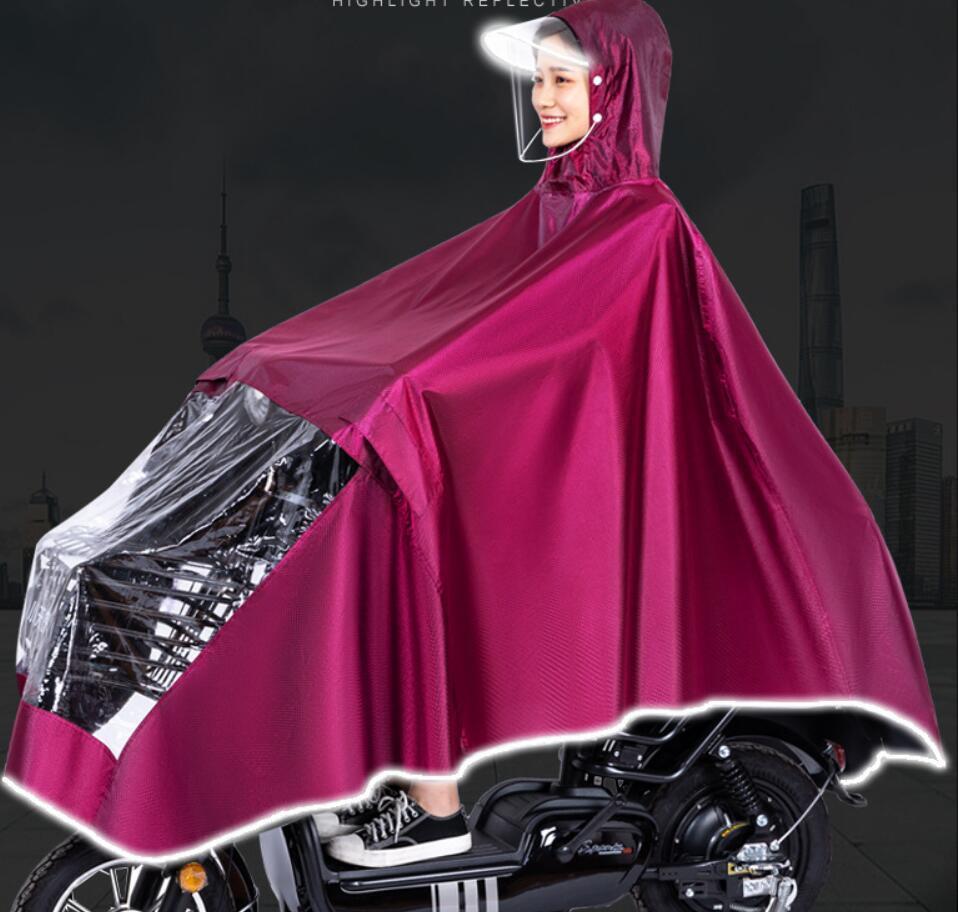 بطارية السيارة الكهربائية معطف واق من المطر كامل الجسم لفترة طويلة من الرجال والنساء سماكة الدراجات النفس واحدة مضادة للعاصفة المعطف الكبار