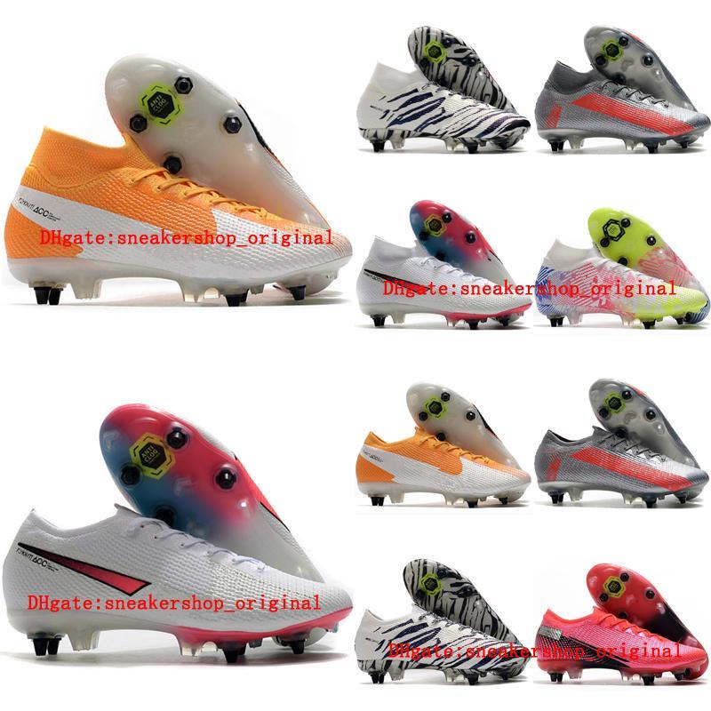 2020 de alta qualidade mens sapatos de futebol AC ao ar livre grampos do futebol chuteiras Mercurial Superfly 7 Elite SG-PRO CR7 scarpe da calcio nova