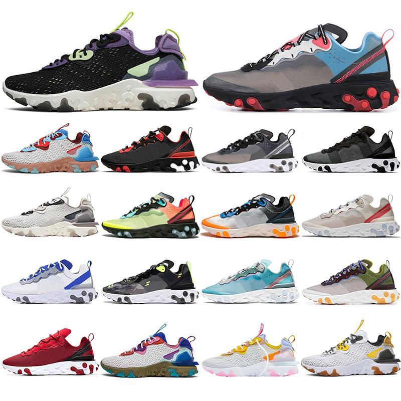 Las nuevas llegadas 87 55 hombres de las mujeres de los zapatos corrientes para hombre púrpura Triple Negro Desert Oasis Honeycomb gravedad Entrenadores de Atletismo Runner Sport zapatillas de deporte