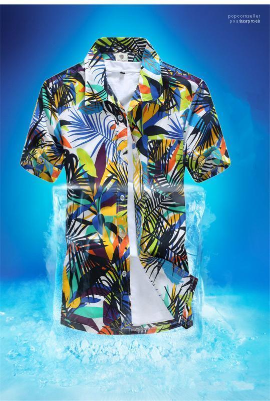 Stili di stampa Hawaii Beach camicia dell'uomo Estate asciugatura rapida Vacanze designer di abbigliamento Camicie Casual Fashion Flora