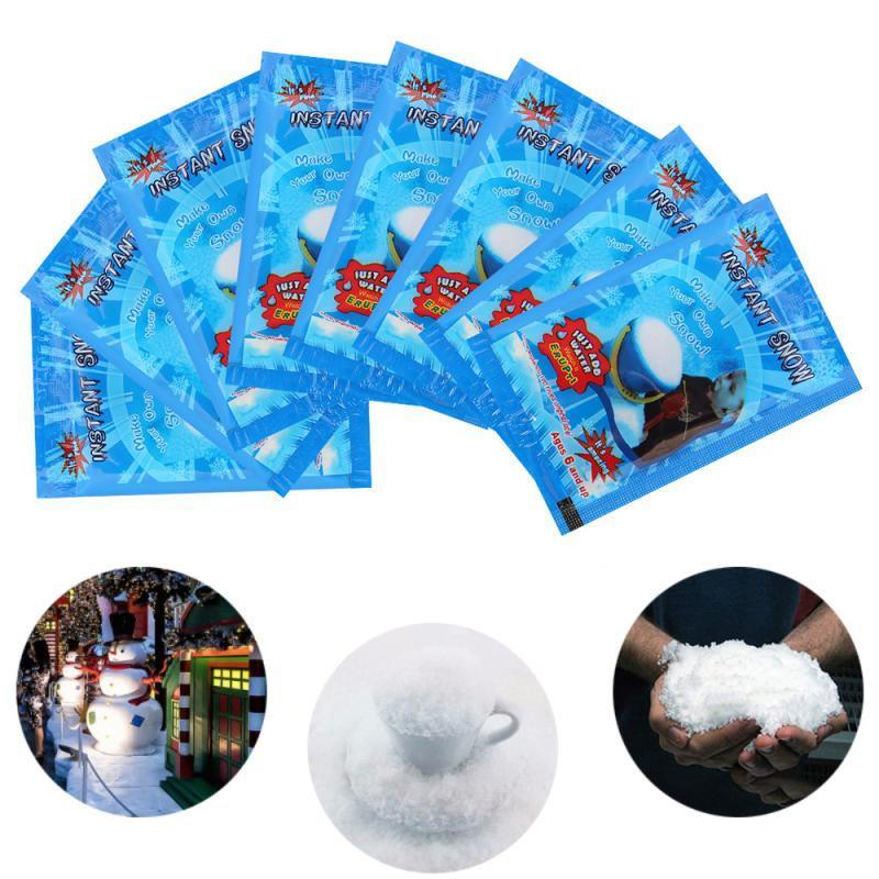 Artificielle Snowflakes Décorations Faux Instant Magic neige Poudre pour maison de mariage neige de Noël Fête de fêtes AHB2000