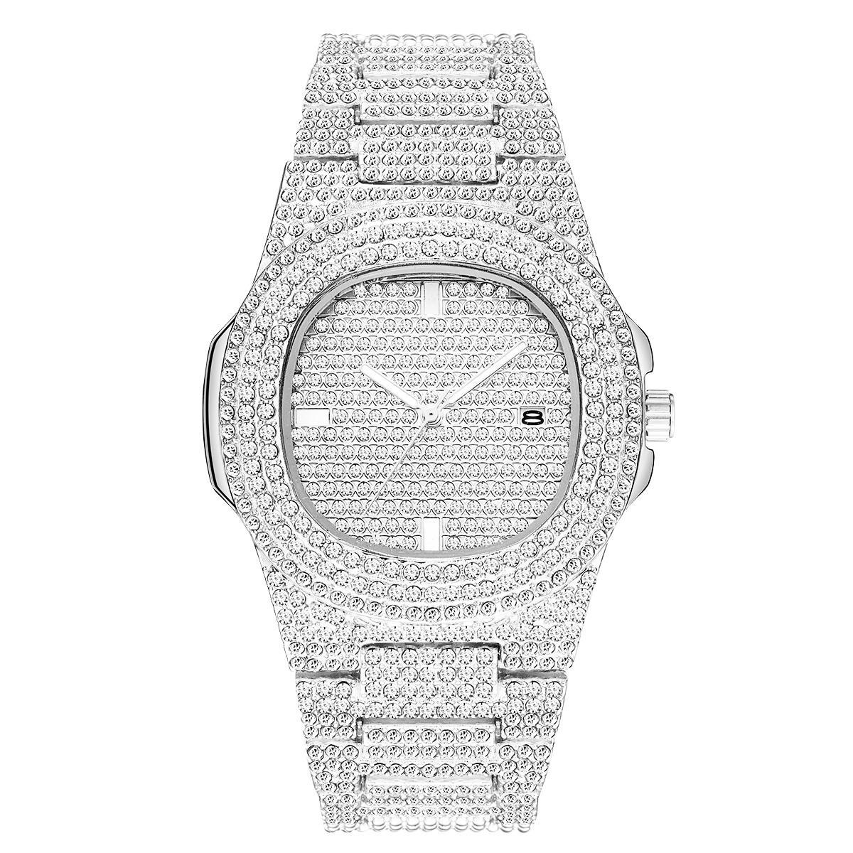 الجملة الرخيصة الأزياء الرجال النساء ووتش الماس يثلج خارجا مصمم الساعات الفولاذ المقاوم للصدأ حركة كوارتز ذكر أنثى هدية بلينغ ساعة اليد