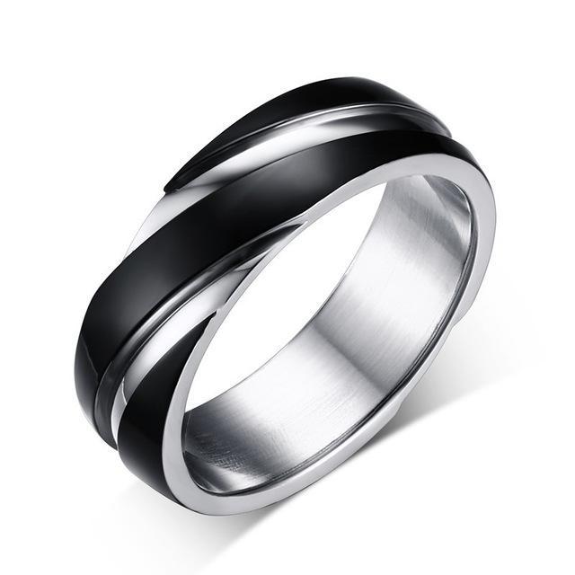 2020 Nuovo punk del nero dell'annata acciaio inossidabile anelli di fidanzamento per i monili delle donne degli uomini Classic Wedding Bands partito