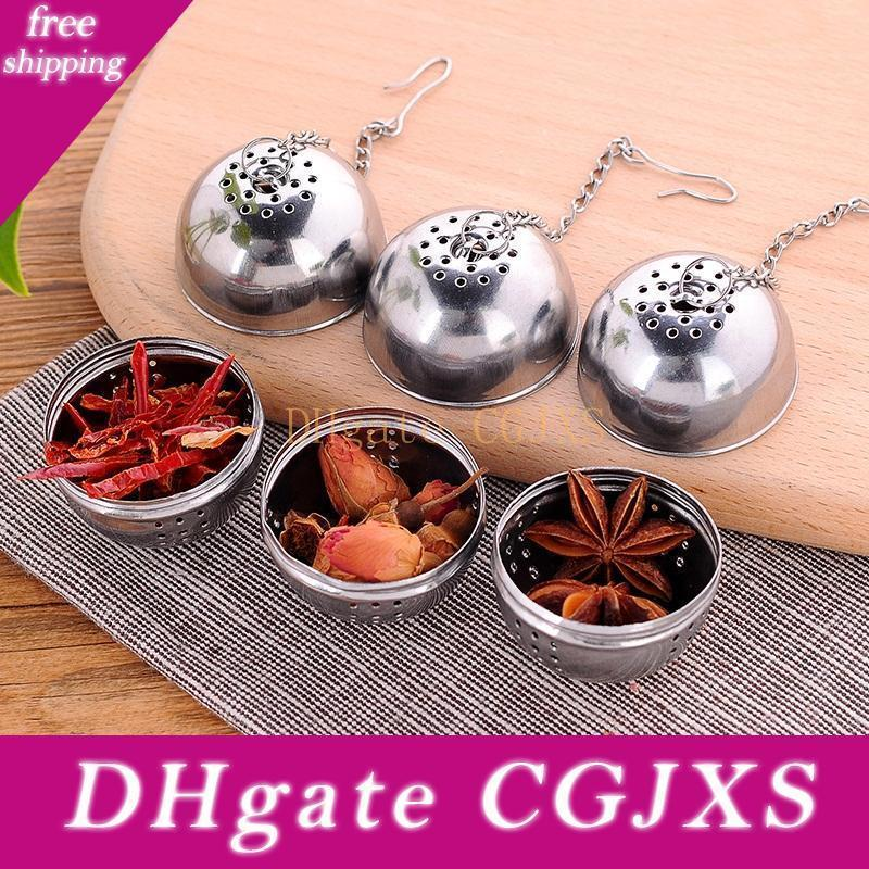 Fabriqué en Chine 304 thé en acier inoxydable à billes Infuser, en vrac Prix Round métal Thé Infuser sur la promotion