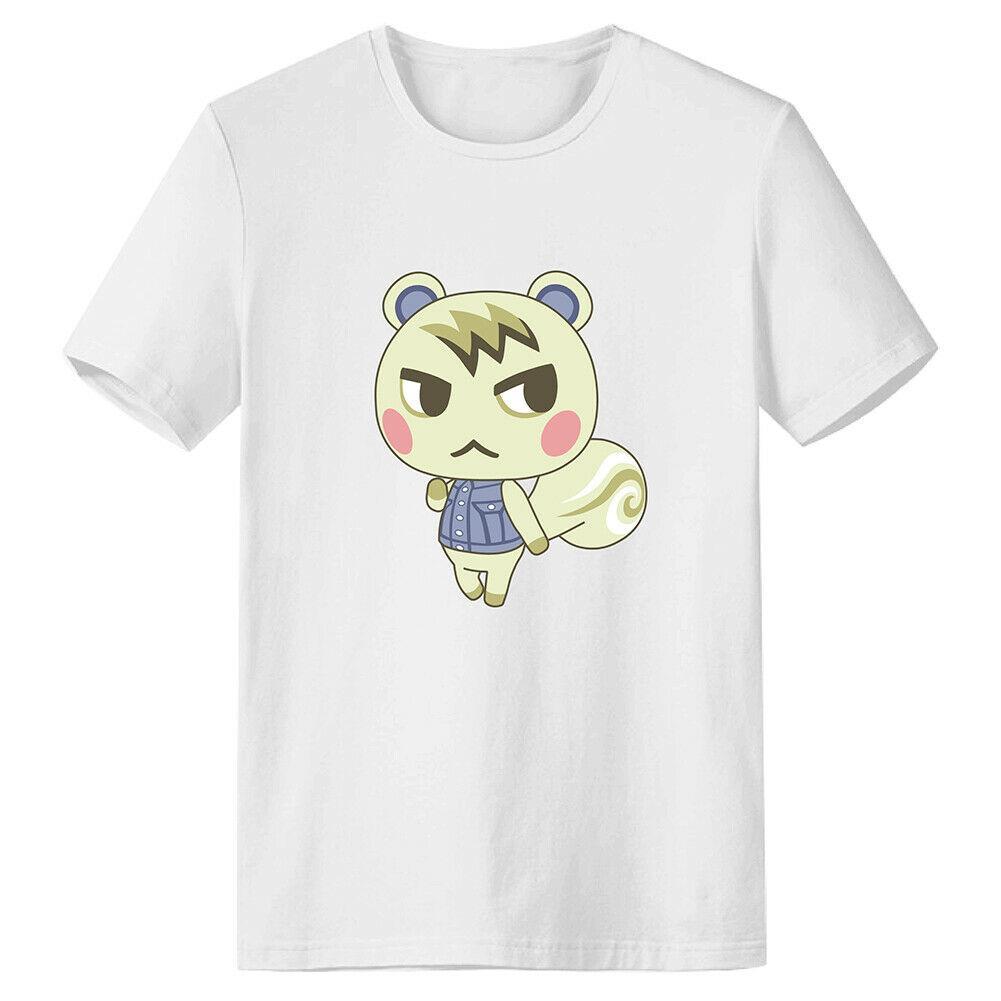 Animal Crossing T-shirt stampata maresciallo estate del O-collo Camicia casual in cotone Tee