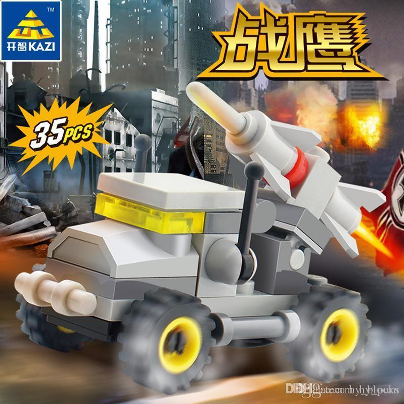 4 Styles Mini-Auto-Modell-Bausteine für Kinder Diy Bildung Transport Militär Bricks Spielzeug für Jungen Assembled Kinder 06
