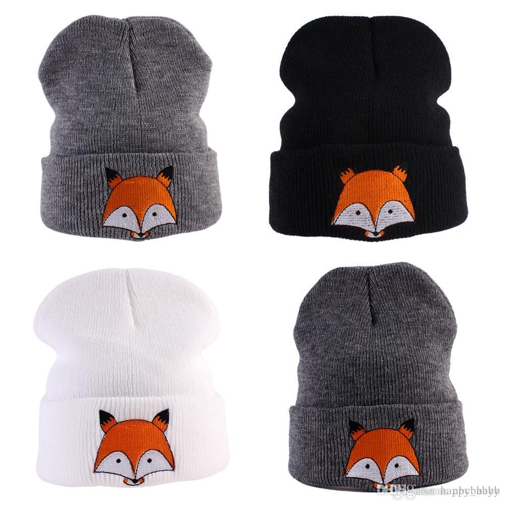 2017 New arrival! Christmas Crochet Fox Hat Baby Girl Knitted Animal Cap Winter Toddler Cartoon Hat Kids Children Beanie