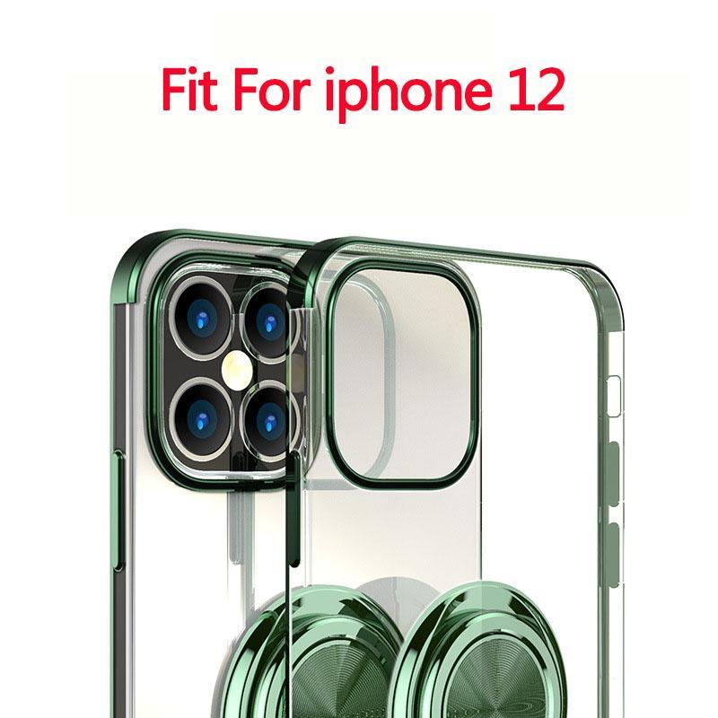 Al por mayor de la caja del teléfono Iphone Moda 12 casos con sostenedor del anillo de pata de cabra para Iphone Tamaño 12promax 12max / Pro 11 Promax 11Pro Todos los Disponible