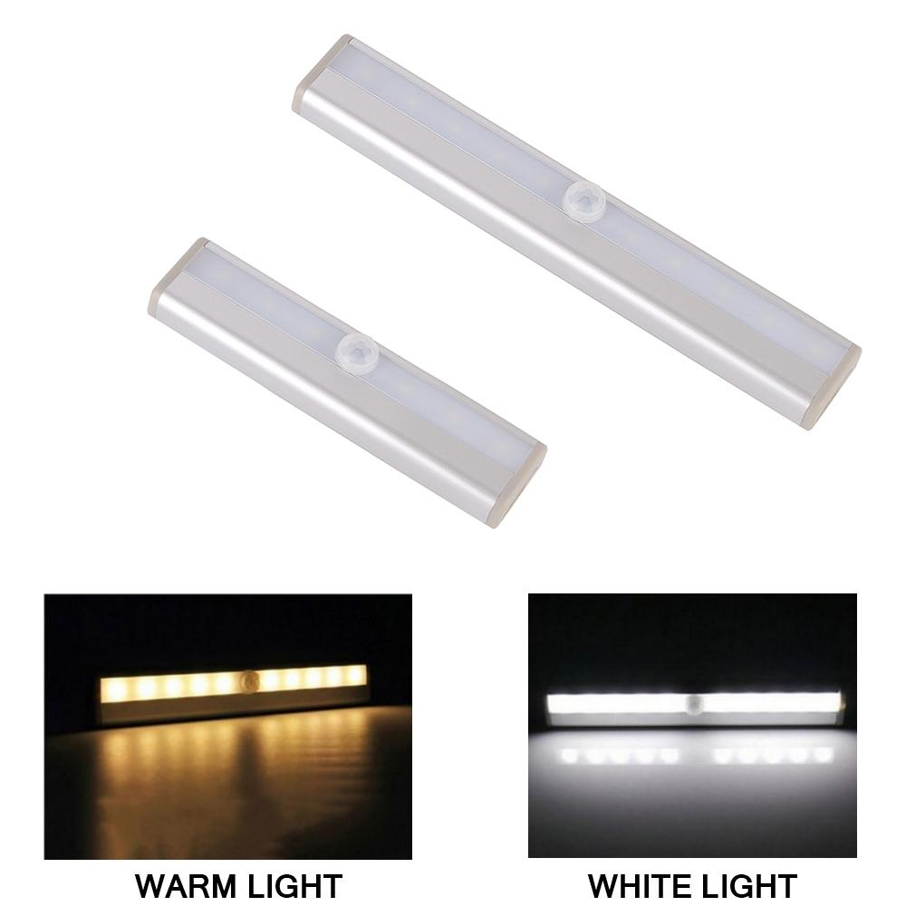 LED Cabinet Down Light 6/10 LED Lighting Com PIR Motion Sensor Luz Para Closet Armário Closet Kitchen Night Light