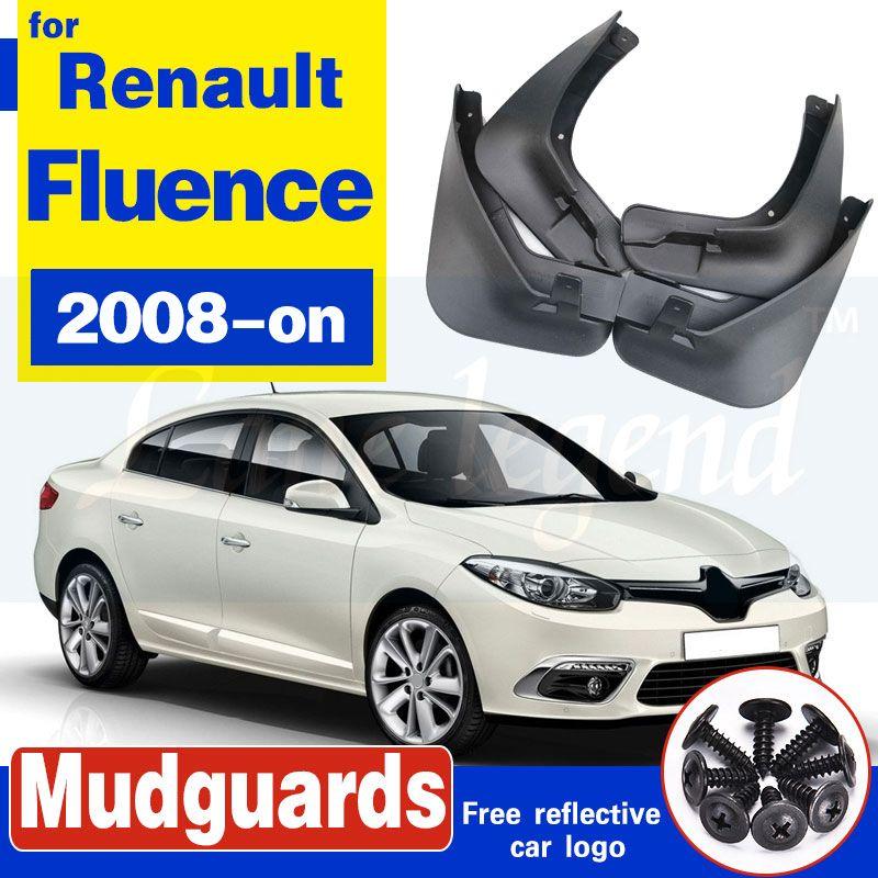 4pcs voiture boue avant arrière Rabats Garde-boue Fender Flares Auto boue Splash Guards pour Renault Fluence Samsung SM3 2008 sur