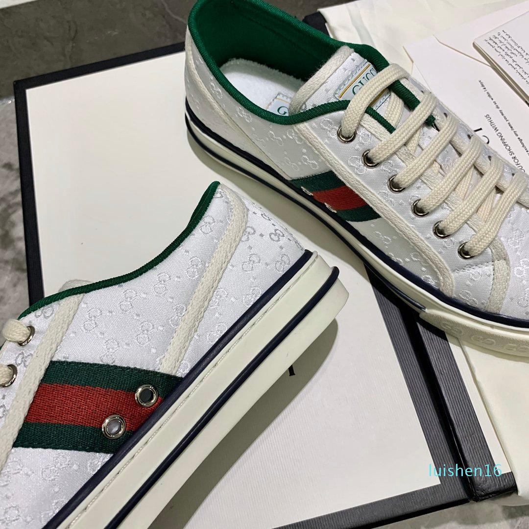2020 femmes des hommes chauds Designer Tennis 1977 avec Sneaker Web vert et rouge en coton chaussures de marque Trainer Casual Luxury Fashion pour hommes3 L16
