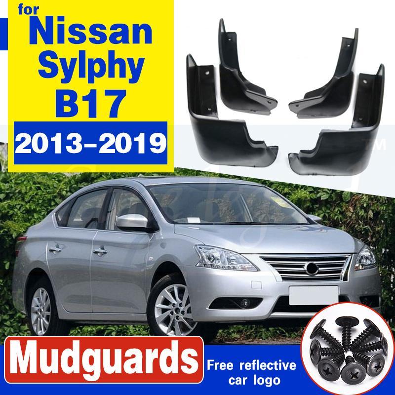 Set Auto-Schmutzfängern für 2013-2019 Nissan Sentra Sylphy B17 Pulsar Sedan Spritzschutz Schmutzfänger Kotflügel Fender 2014 2015 2016