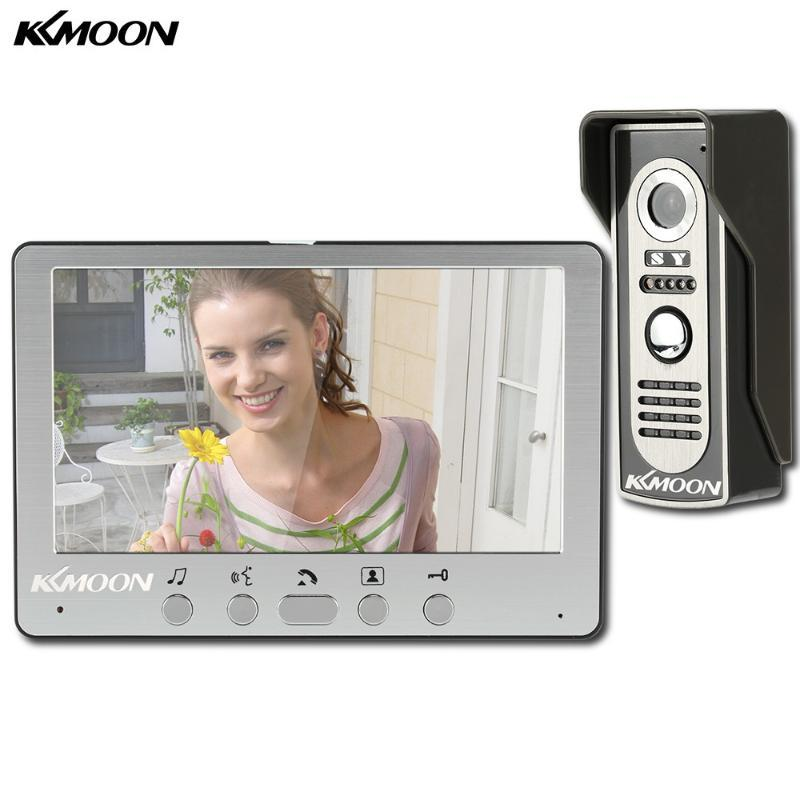 KKMOON 7'' LCD Screen Wired Video Door Phone System Visual Intercom Doorbell Indoor Monitor 700TVL Outdoor IR Camera Night View
