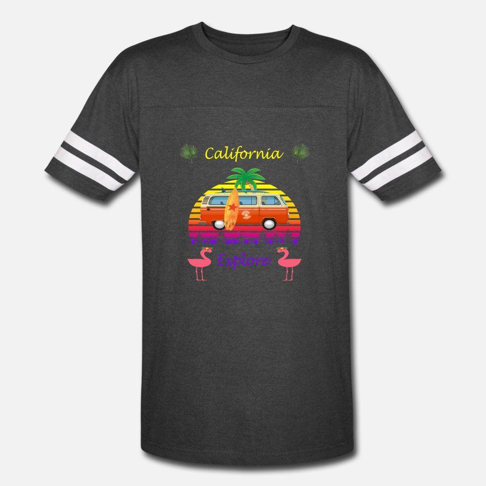 Vintage Califórnia No Verão Sun Com a camisa da praia t homens Designs algodão gola redonda Kawaii Camisa formal engraçado bonito do verão