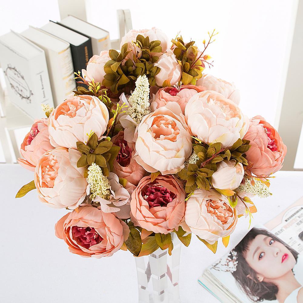 Пион цветок набор, европейский основной стиль пион, пяти цветов, высококачественные свадебные украшения, осень пион