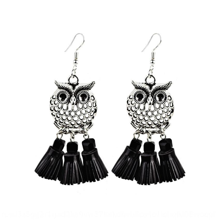 New fashion and accessories personalized owl color tassel earrings. New fashion earrings and earrings accessories personalized owl color tas