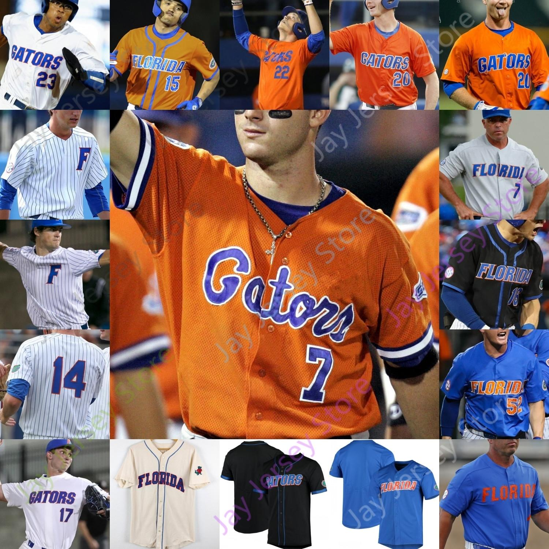 Özel Florida Gators Beyzbol Jersey NCAA Koleji Austin Langworthy Cory Acton Brady Smith Ben Specht David Eckstein David Ross Mike Zunino