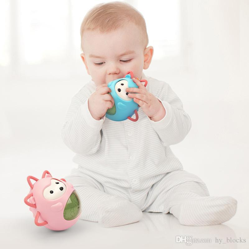 Baby Rattles Tumbler Toys Music Animal Dolls Infant Early Education Bath Toy For Children Kids Handle Learning Gift