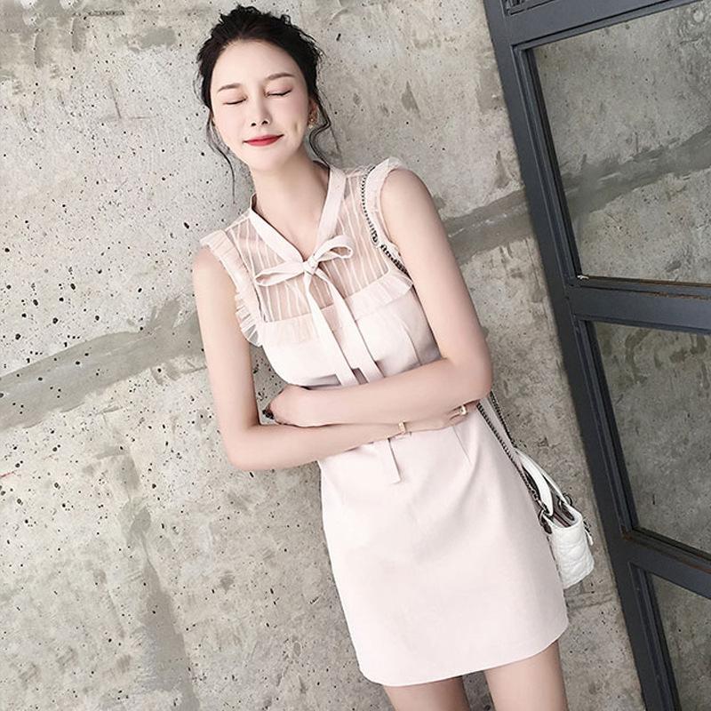 7fDlI Französisch wenig Spitze Sommer Spitze schwarz sanfte Art sexy Temperament Göttin Fan Fee 2020 Kleid Kleid wenig New xSW37
