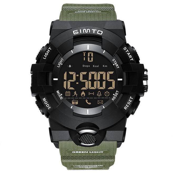 Reloj elegante cgjxsExplosion luminoso luminoso tendencia de la moda Calendario de alarma a prueba de agua reloj masculino del punto de venta directa de fábrica