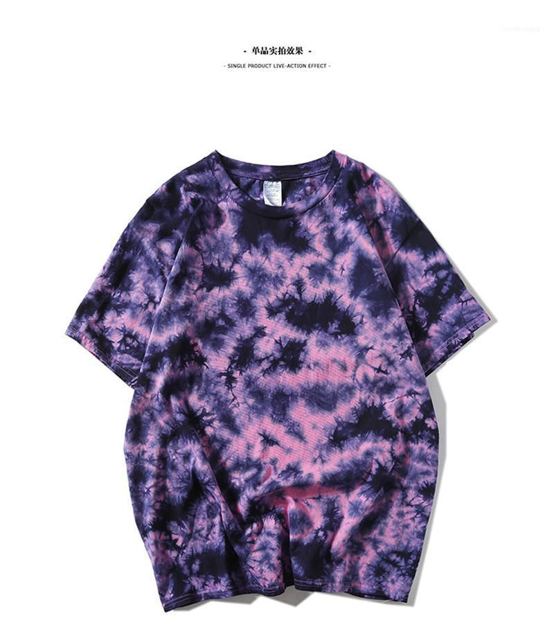 Neck Oversize Tees Mens Designer Tie Dye Tshirts Fashion Short Sleeved Mens Street Style Summer Tops Man O