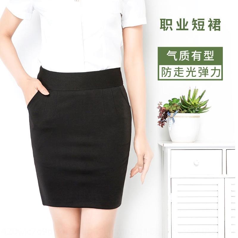 oGjQ7 la primavera y el verano nueva línea de traje de profesionales A- A- Línea de color sólido de protección contra la intemperie A- 2020 falda delgada de la cadera de ajuste