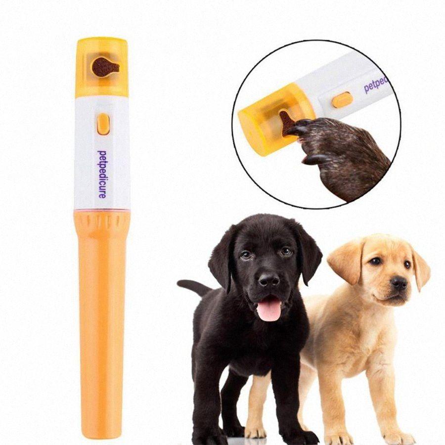 Prego Dog Clippers Pet Pedicure ferramenta elétrica Automatic Pet Grinder Pet Cat filhote de cachorro da pata Garra Toe Nail Grinder Grooming OOA4874 L0ED #