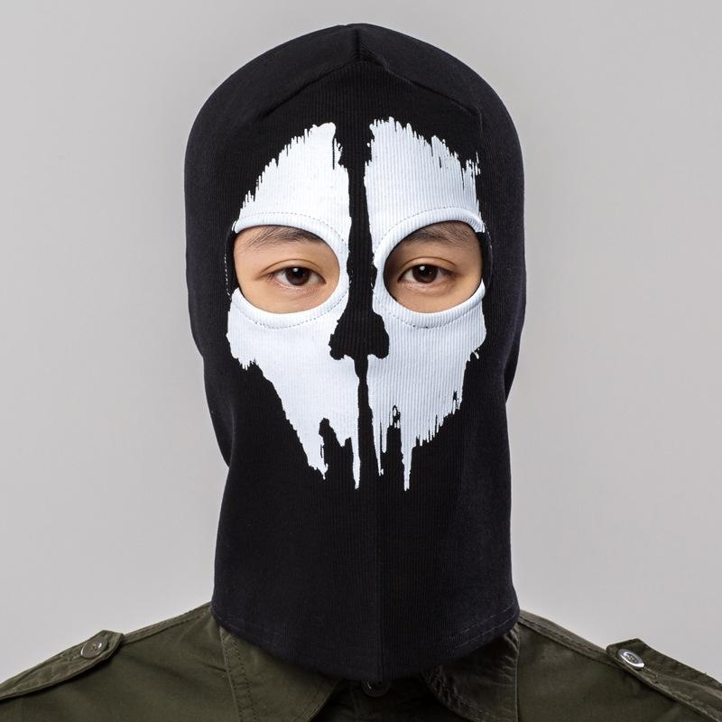 Halloween autumn and winter outdoor dust-proof skull riding hood Hood head cover ghost mask cs field thread elastic riding cap dy5V1