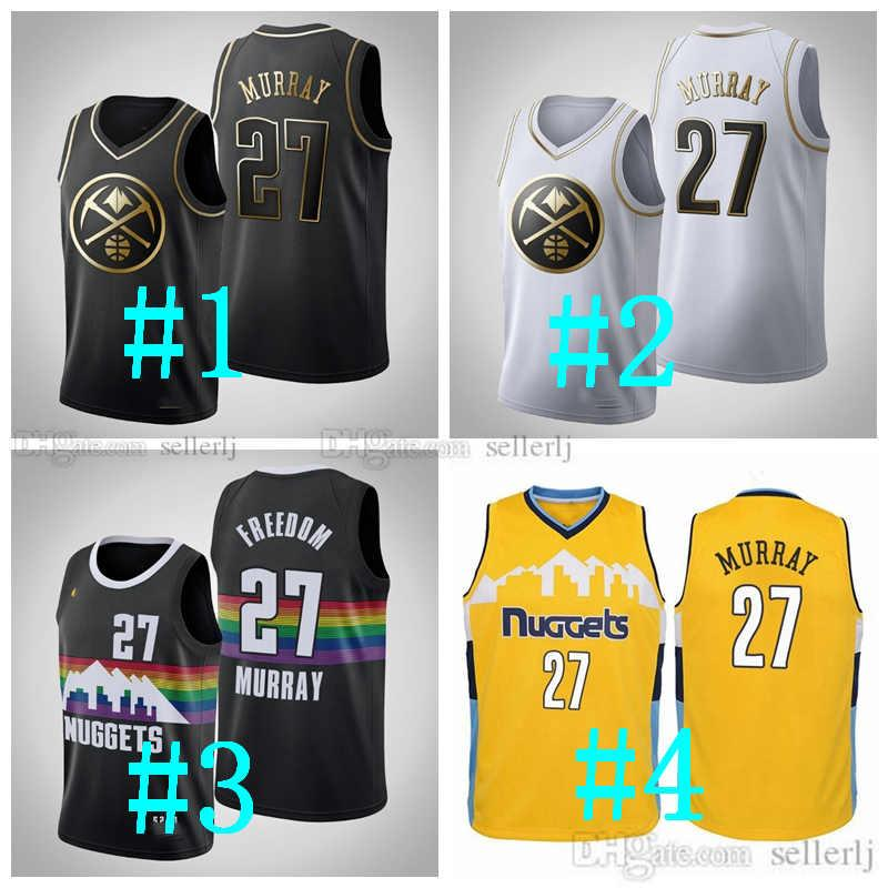 Custom Men Women YouthDenverNuggets Suit 27 Murray Jersey Authentic White Basketball Jersey S-6xl