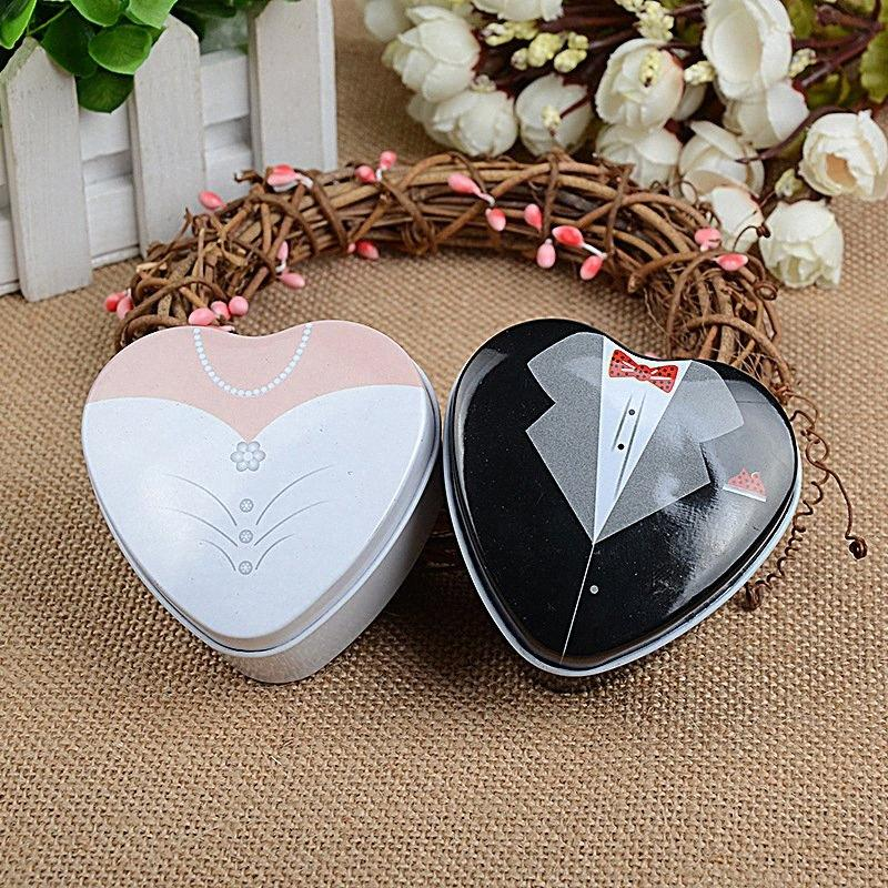 Stile Europeo Casella Candy Candy Box Wedding cuore regalo a forma di latta di cerimonia nuziale creativo 0BTE #