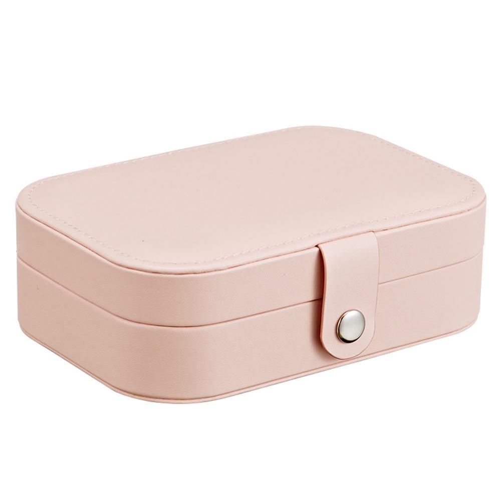 Señora PU de cuero de la joyería del anillo de almacenamiento caja de presentación del caso portable de la joyería Organizador para los collares Joyeros Organizador De Joyas MX200810