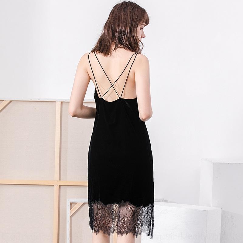 EkFRq l6oWi Velila сексуального золота носить внутреннее платье черная осень и зимой внешнего бархат спинка Suspender подвязка черного ремень юбка кружево небольших