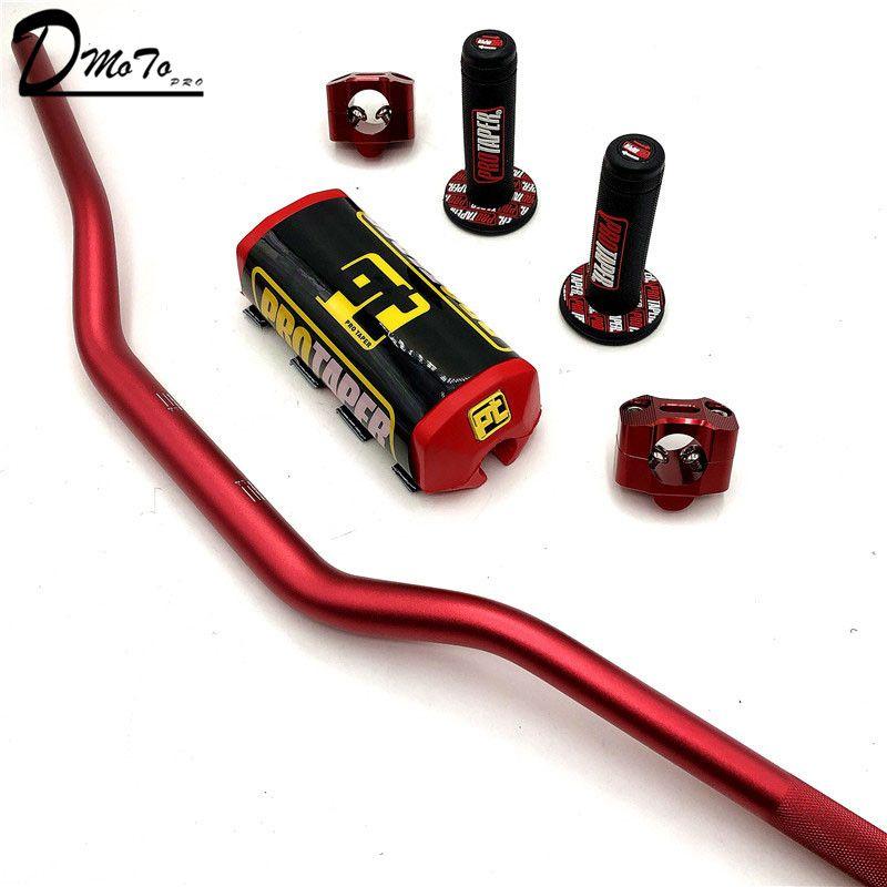"Motorrad-Lenker 1-1 / 8"" Lenker Pads Grip Pit Pro Racing Dirt Pit Bike Motorrad CNC 28,5mm Adapter PRO TAPER Grip"