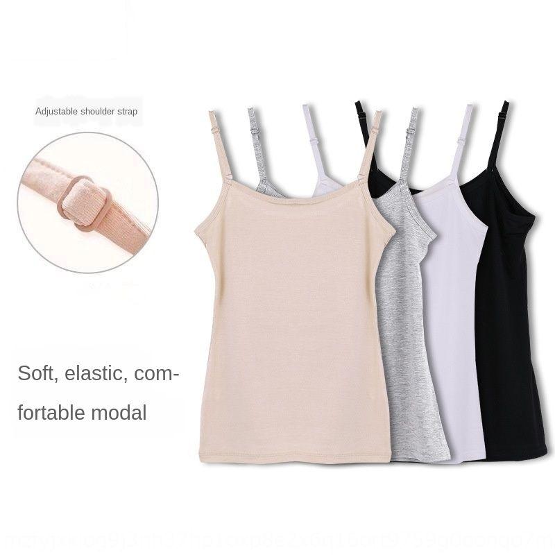 ajustável camisola modal estilo coreano alça de ombro de NQPGR Mulheres camisa alça de ombro fino camisola cor sólida todo-match shir base interna