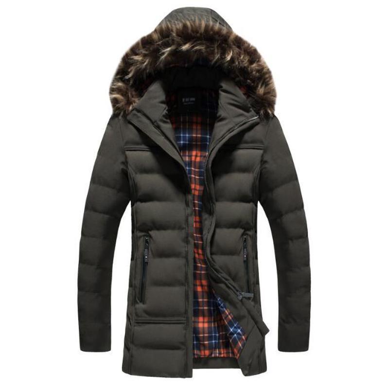남자 다운 파카 겨울 재킷 망 패션 캐주얼 스트레이트 솔리드 긴 섹션 따뜻한 Jcakets 고품질 코튼 코트