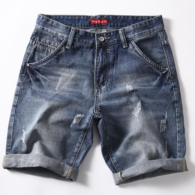 Krótkie dżinsy dla mężczyzn Lato Nowa Moda Denim Spodenki Mężczyźni Wysokiej Jakości Mid Waist Casual Shorts Rozmiar 40 Męskie Szorty