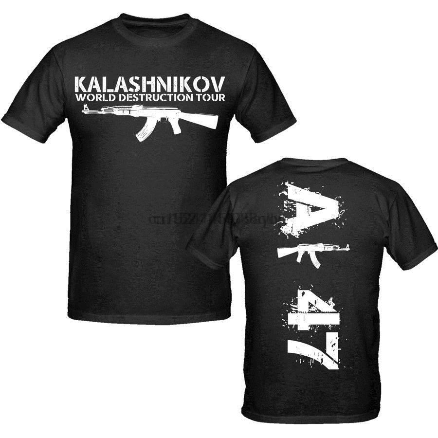 Men Free Shipping Hot Sale Brand Clothing Tees Casual Male Ak 47 T Shirt S Xxxl Weapons Military Tee Shirt