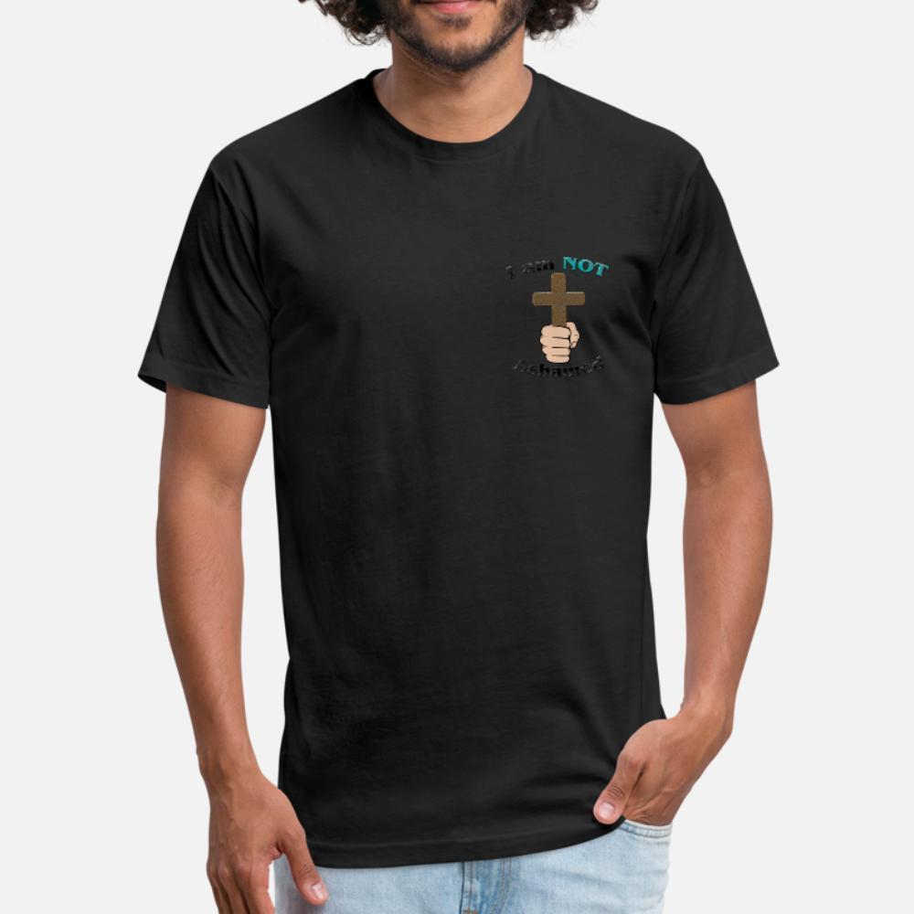 Não me envergonho camiseta homens camisa do costume 100% algodão S-XXXL senhores Anti-rugas Letters Primavera básicas