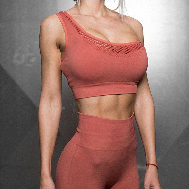 Sexy Seamless Sports Bra Top Yoga oco acolchoado Push Up Bra Correndo Top Gym Fitness Energia Mulheres desgaste ativo tGi9 #