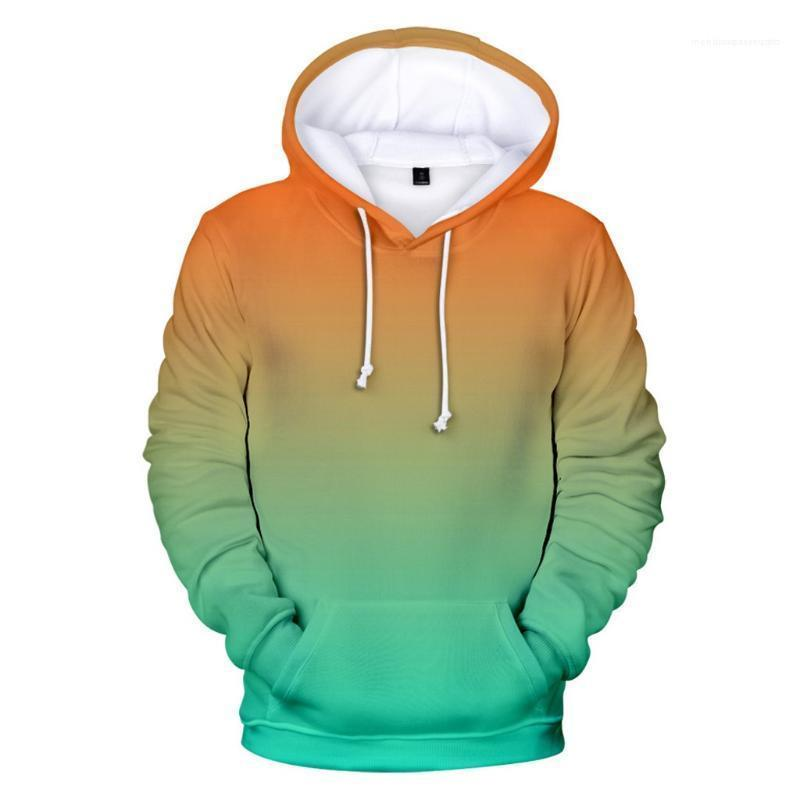 Katı Renkler Boy / Kız Gökkuşağı Kazak Coat erkek giyim Yeni Kapüşonlular Erkek / Bayan Tişörtü Custom Gradient Kapşonlu Erkek Sweatshirt