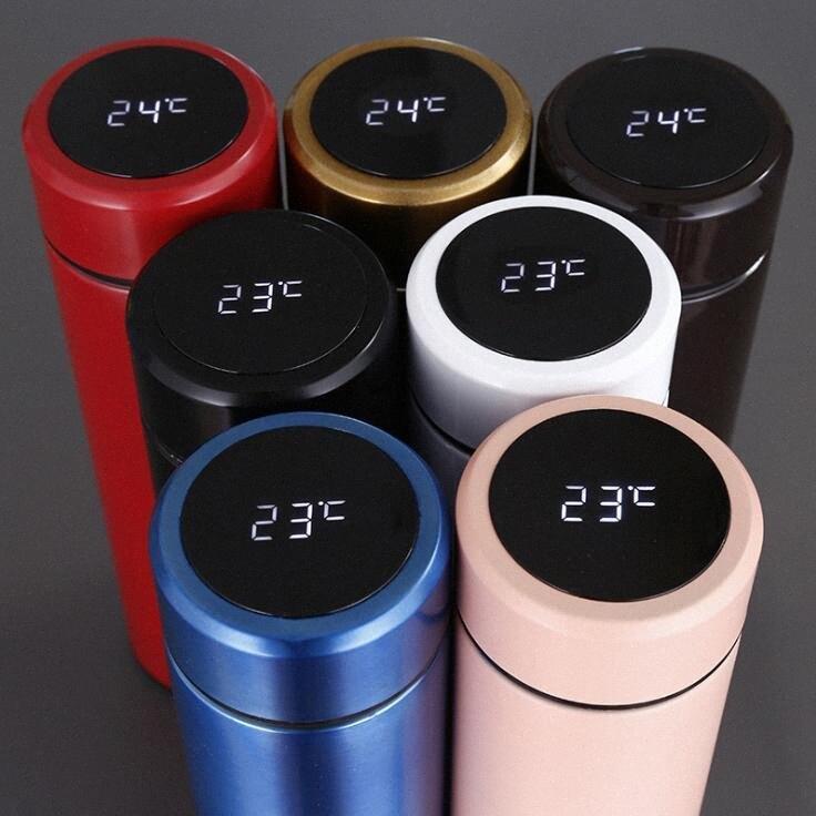 LCD intelligente Mug acciaio inox a temperatura display vuoto bottiglia di acqua dello schermo Thermo Cup bollitore con tocco Regalo Coppa LXL1081-1 CtvX #