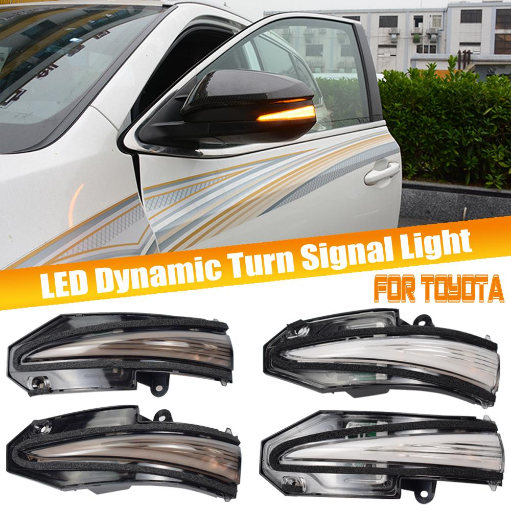Auto-LED Dynamiksignallicht für Toyota RAV4 XA40 13-18 Hochländer Kluger 4Runner 14-19 Noah R80 Voxy Seitenflügel Spiegel Blinker